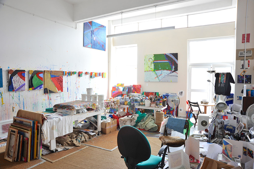The studio of artist Anthony Frost. Photo © Brian Benson, 2015.