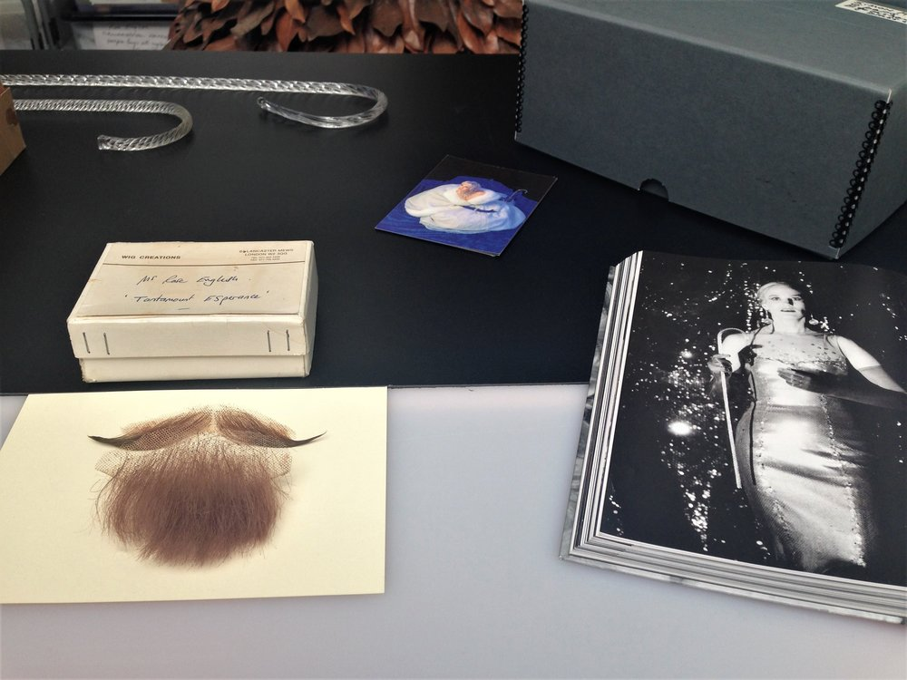 Rose English, Moustache and beard worn in 'Tantamount Esperance', 1994