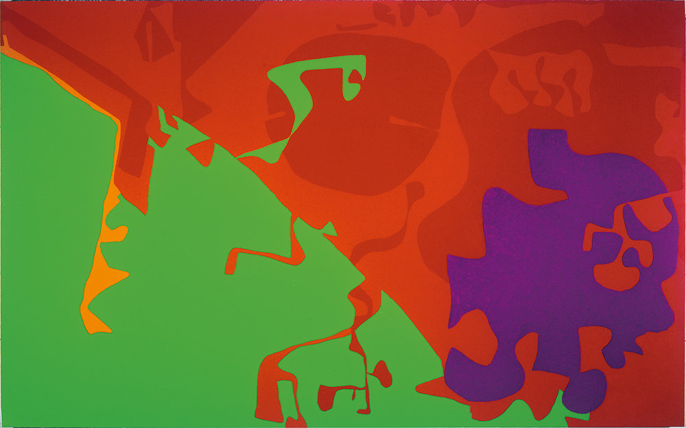 Patrick Heron, Big Complex Diagonal with Emerald and Reds : March 1972 – September 1974, 1972-74 © estate of Patrick Heron. All rights reserved, DACS 2018