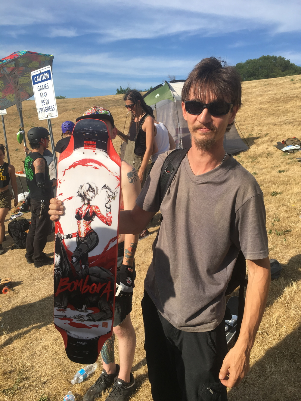 Winner winner, chicken dinner!!! this man walked away with a brand new  BOMBORA BALISONG.  Photo - Rob DeFreitas
