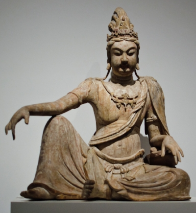 The Quan Yin Cycle |  Tales of the Buddhist Goddess of Mercy, from before her incarnation as a young princess through death and transformation into the goddess. Also known as Kwan Yin or Guanyin. She is often revered by Toaists as immortal (told in 6-8 stories).   Image: Guanyin statue in Water Moon pose (11th Century Liao China). From Metropolitan Museum of Art, NYC. Public domain via Wikimedia Commons.