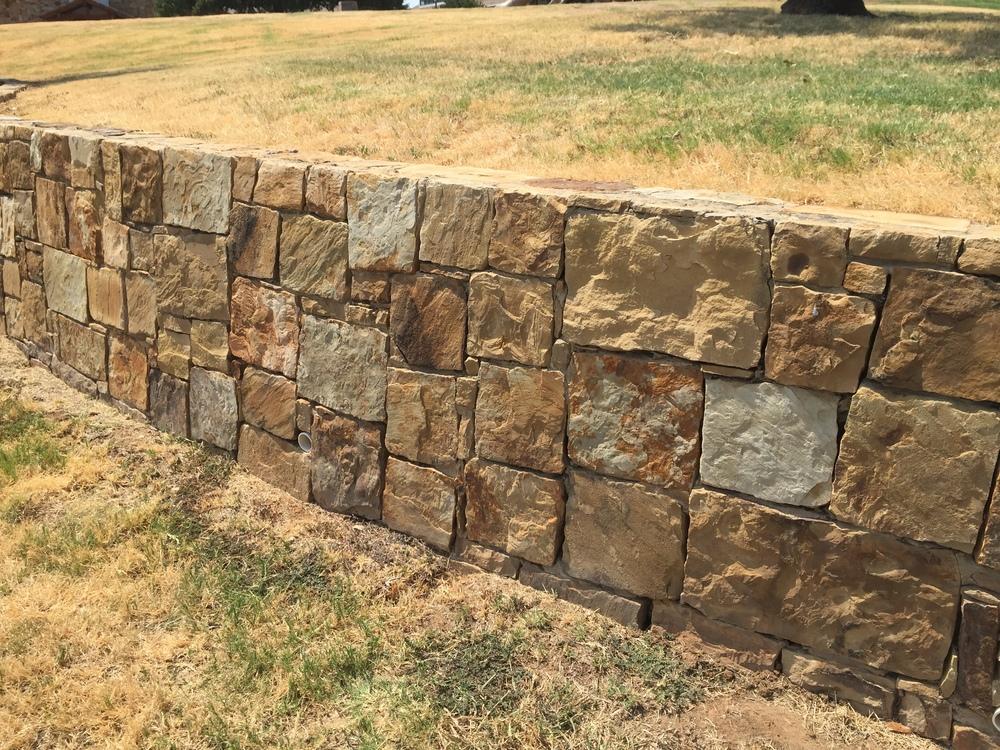 Retaining wall at Westlake Academy