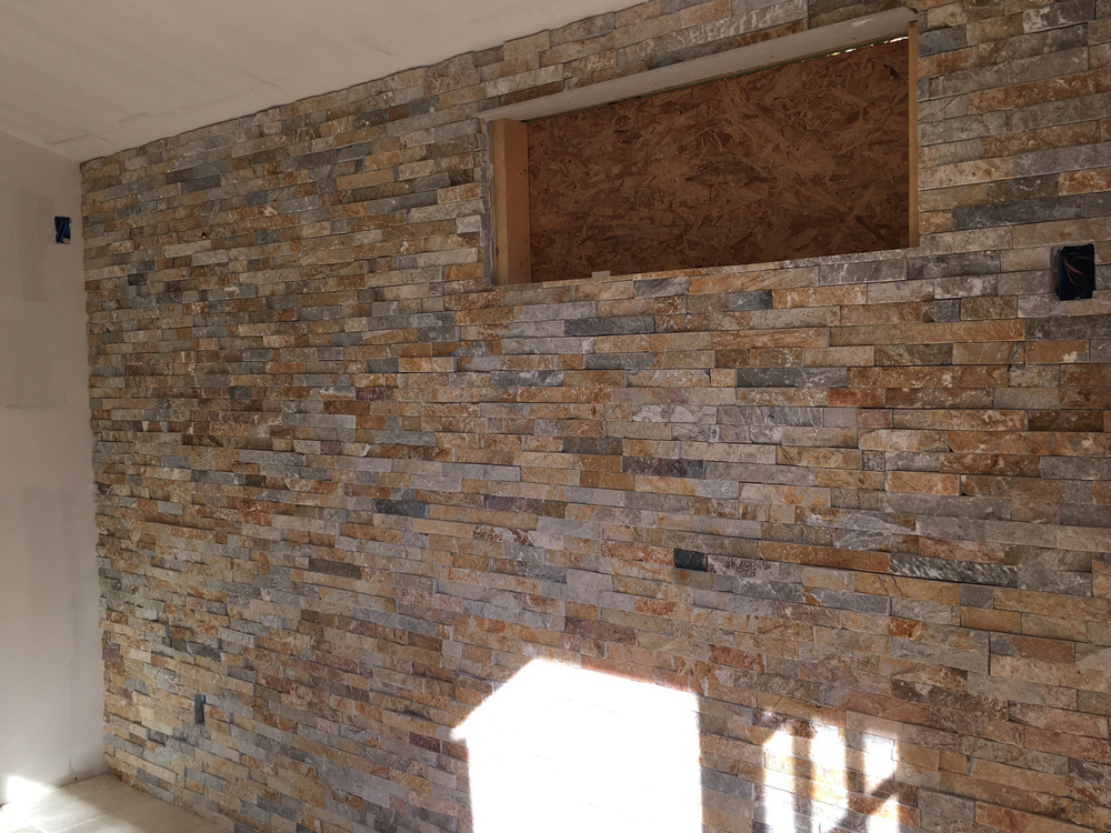 Ledgerstone back wall