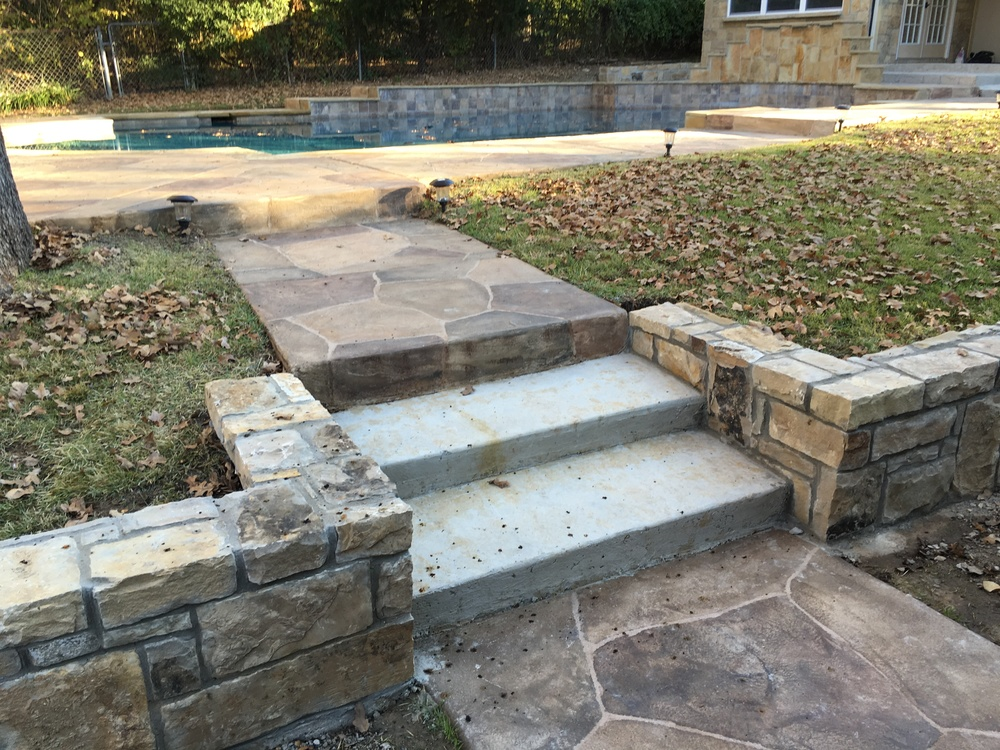 New concrete steps
