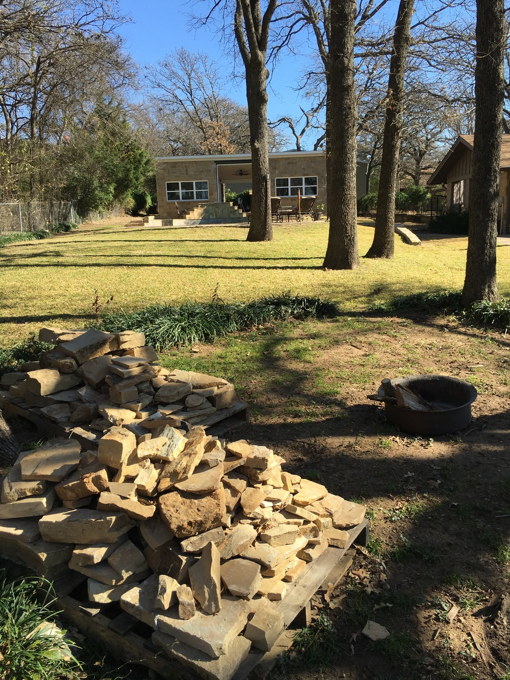 Location of future fire pit