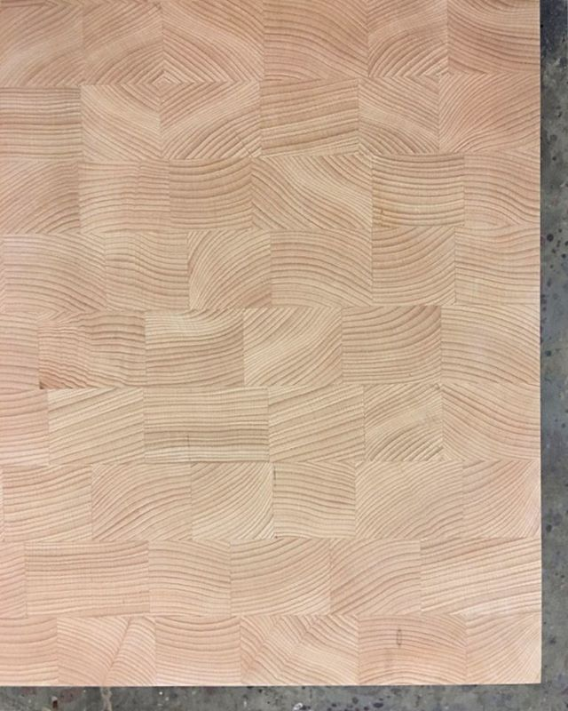 All those little blocks, grown up into an end-grain countertop.