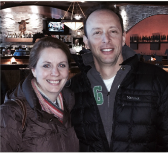 Anya Ciecierski & Dave Foreman on the third time we met in person. (Winter 2014)