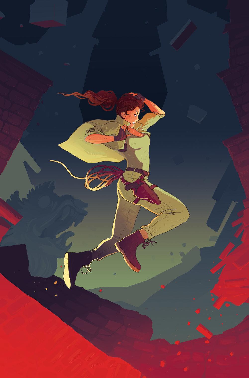 Cover  - Tomb Raider: Survivor's Crusade  #2 - Dark Horse Comics