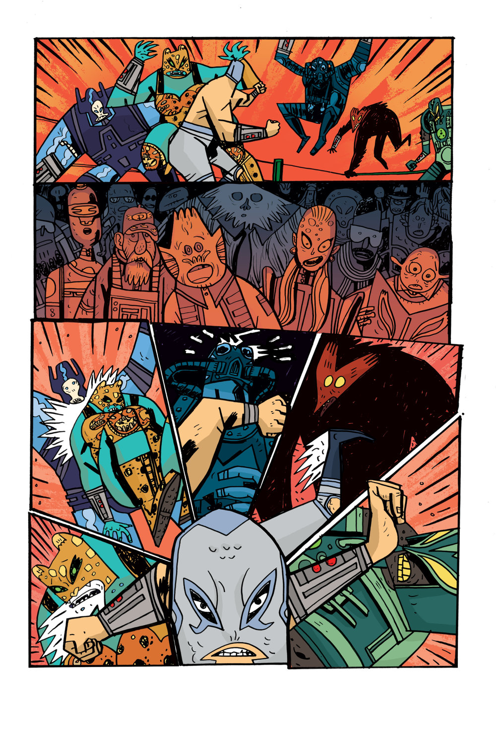 Colors for Samurai Jack: Quantum Jack #2 (IDW) – Art by Warwick Johnson Cadwell