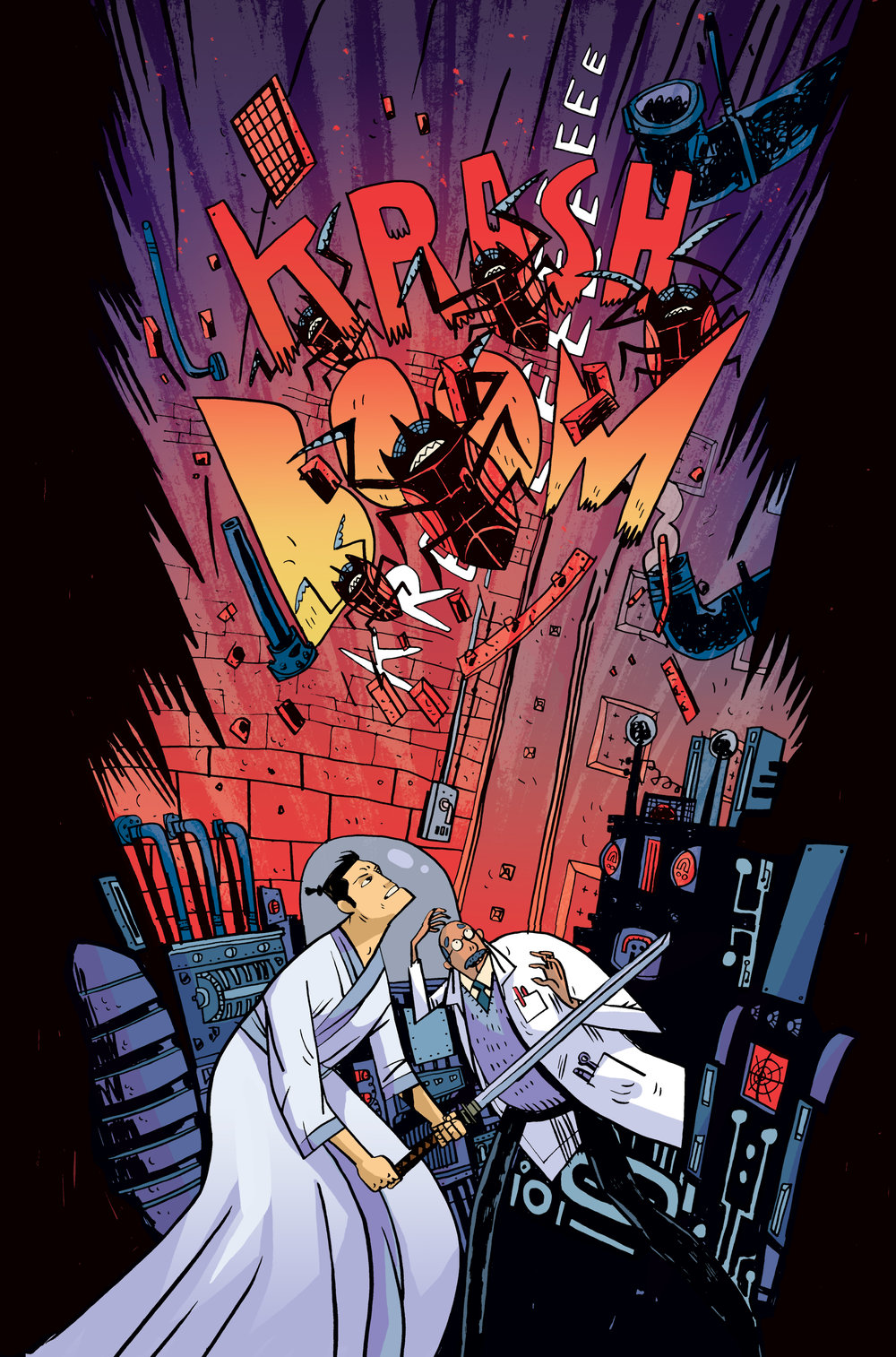 Colors for Samurai Jack: Quantum Jack #4 (IDW) – Art by Warwick Johnson Cadwell