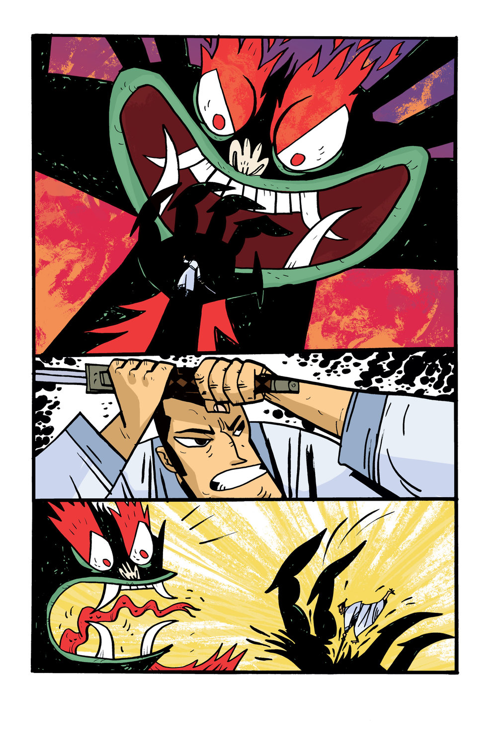 Colors for Samurai Jack: Quantum Jack #5 (IDW) – Art by Warwick Johnson Cadwell