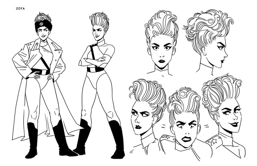 Character Sheet: Zoya  - GLOW  - IDW