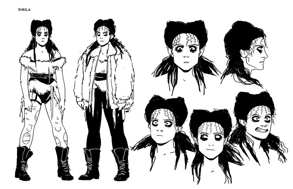 Character Sheet: Sheila  - GLOW  - IDW