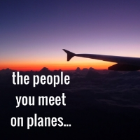 people you meet on planes