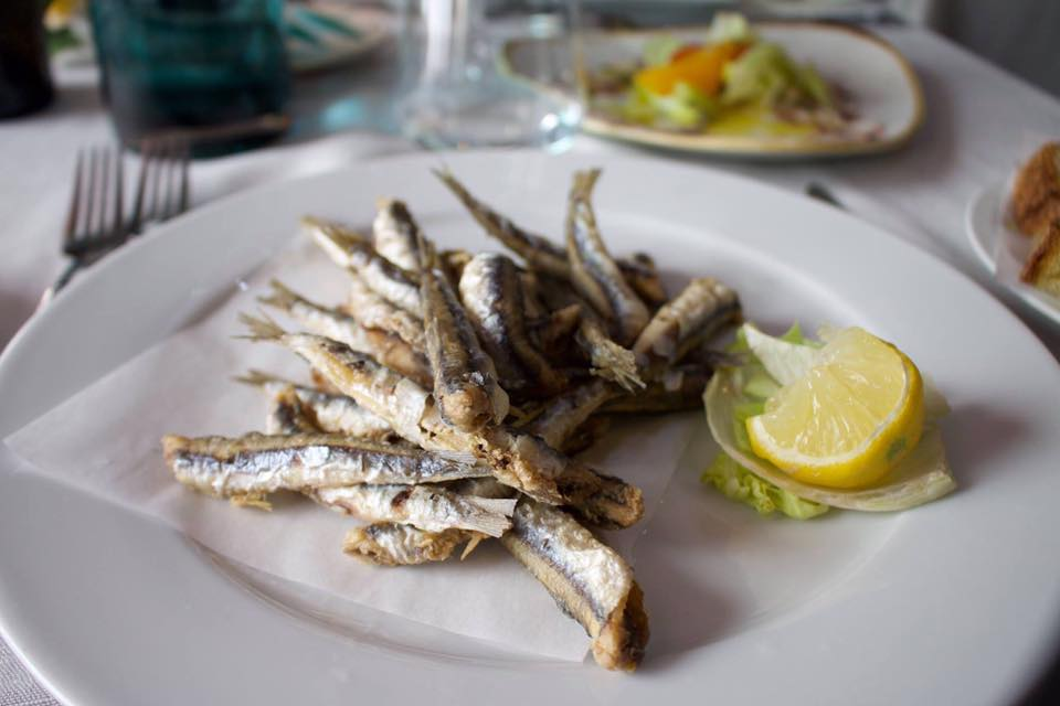 Fried Anchovies, Acquapazza, Cetara