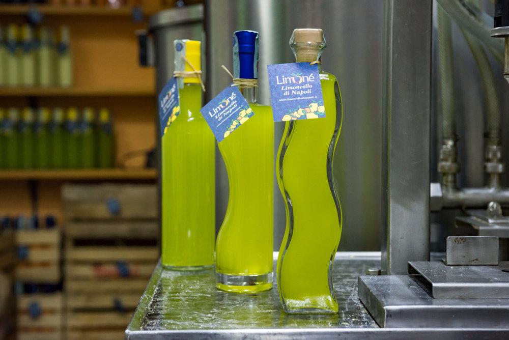 Freshly bottled Limone Limoncello
