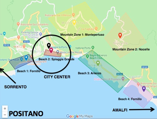 Click on the Sauced & Found map of Positano above to view in Google Maps