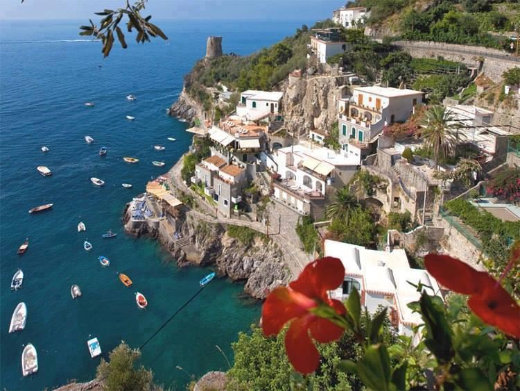 The panorama of Praiano