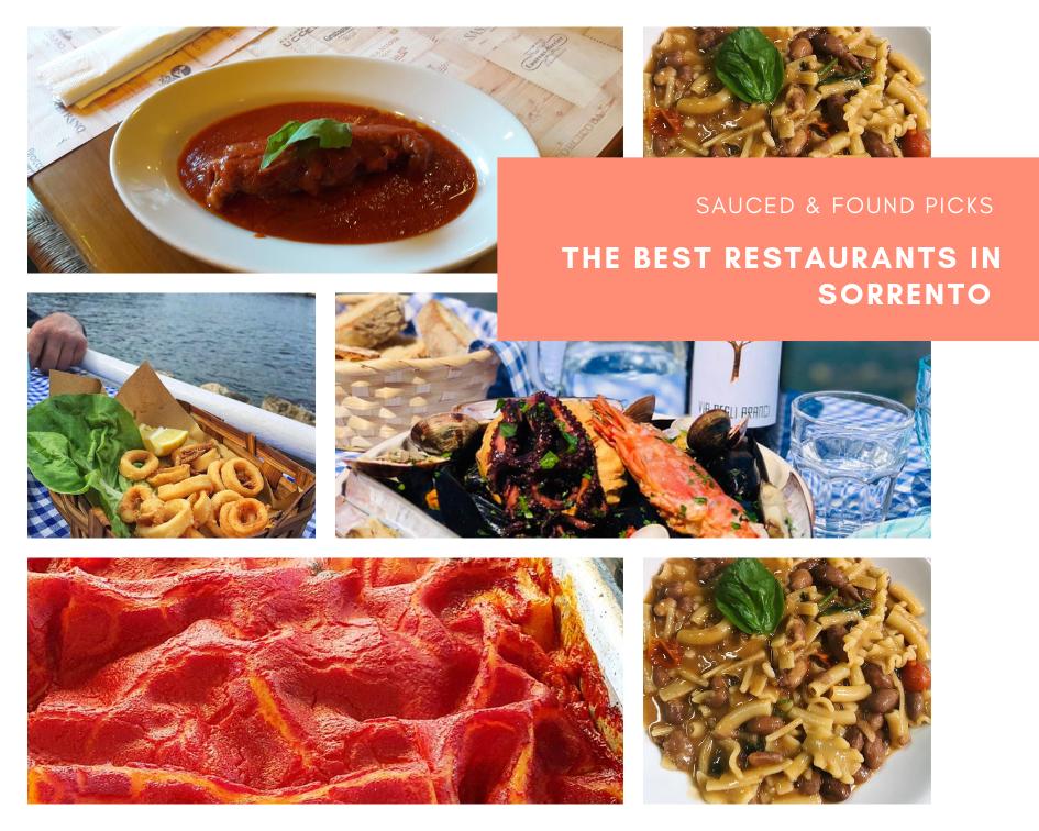 The Best Restaurants In Sorrento Sauced Found