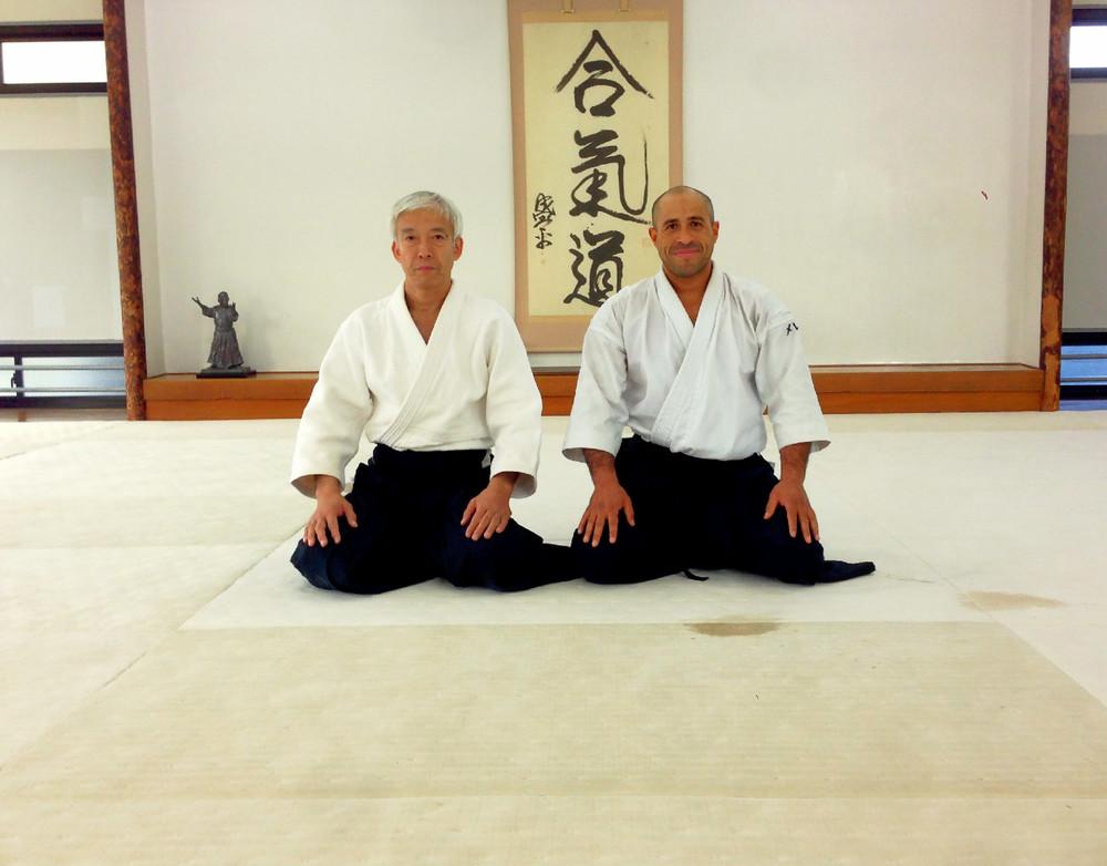 Sensei Merea sammen medMoriteru Ueshiba i HombuDojo