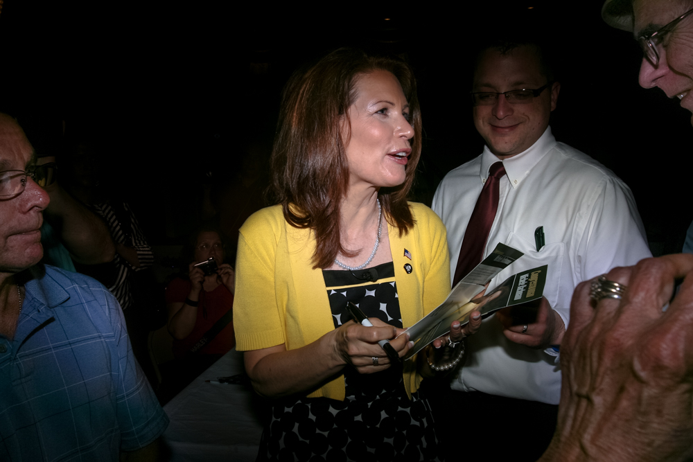 Michele Bachmann visited the Dover Republican Committee and the Strafford County Republican Committee's Memorial Day picnic at the Hellenic Center in Dover.