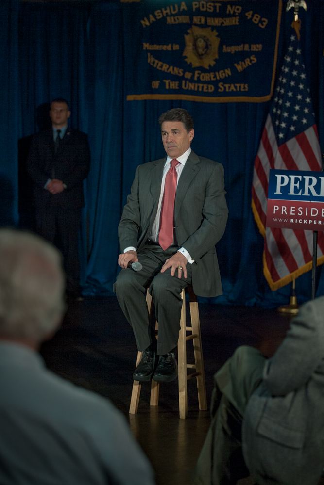 Governor Rick Perry answers questions while making several stops throughout.