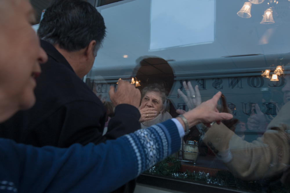 Mitt Romney stopped at several diners on his tour through New Hampshire.