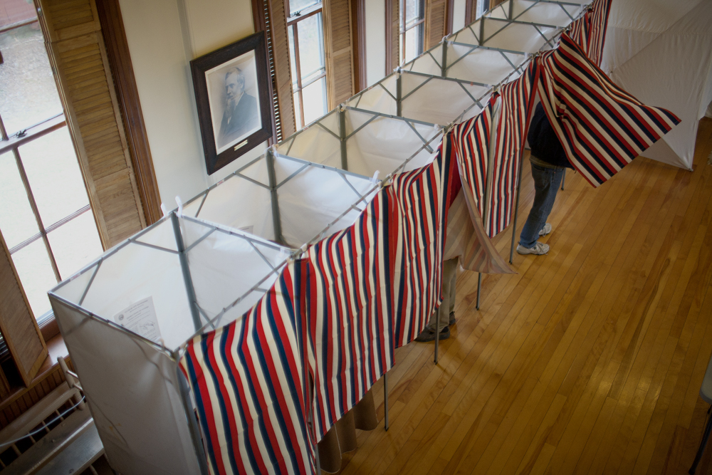 Voters took to the polls throughout New Hampshire to vote in the 2012 election.