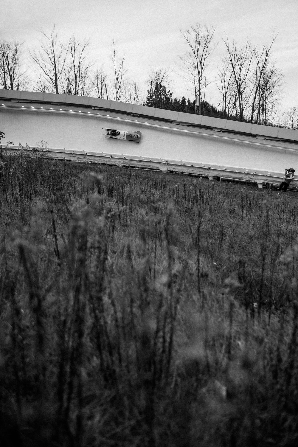 The Lake Placid, New York track is known among athletes as one of the more technically challenging courses in the World Cup circuit. Olympic veterans and hopefuls in bobsled and skeleton gathered in Lake Placid, New York leading up to the World Cup Bobsled and Skeleton races held November 9-10, 2017. Results from Lake Placid, one stop along the circuit, will help determine teams for the 2018 Winter Olympics in Pyeongchang, South Korea.
