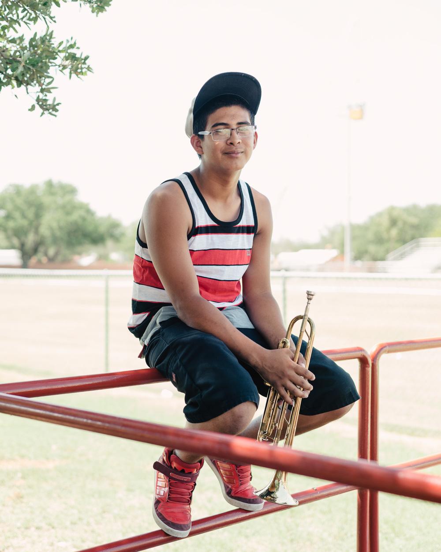 Gerardo with Trumpet