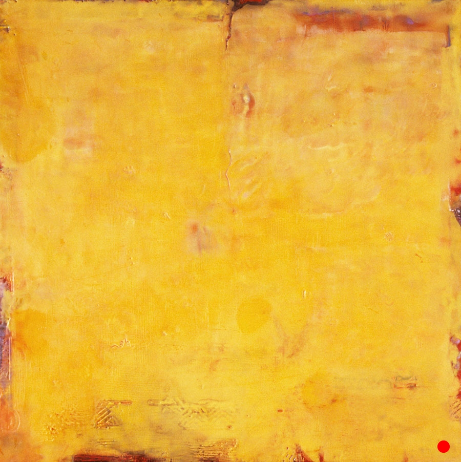 "Glow ,  24""x 24"", encaustic on wood, 2003  SOLD"