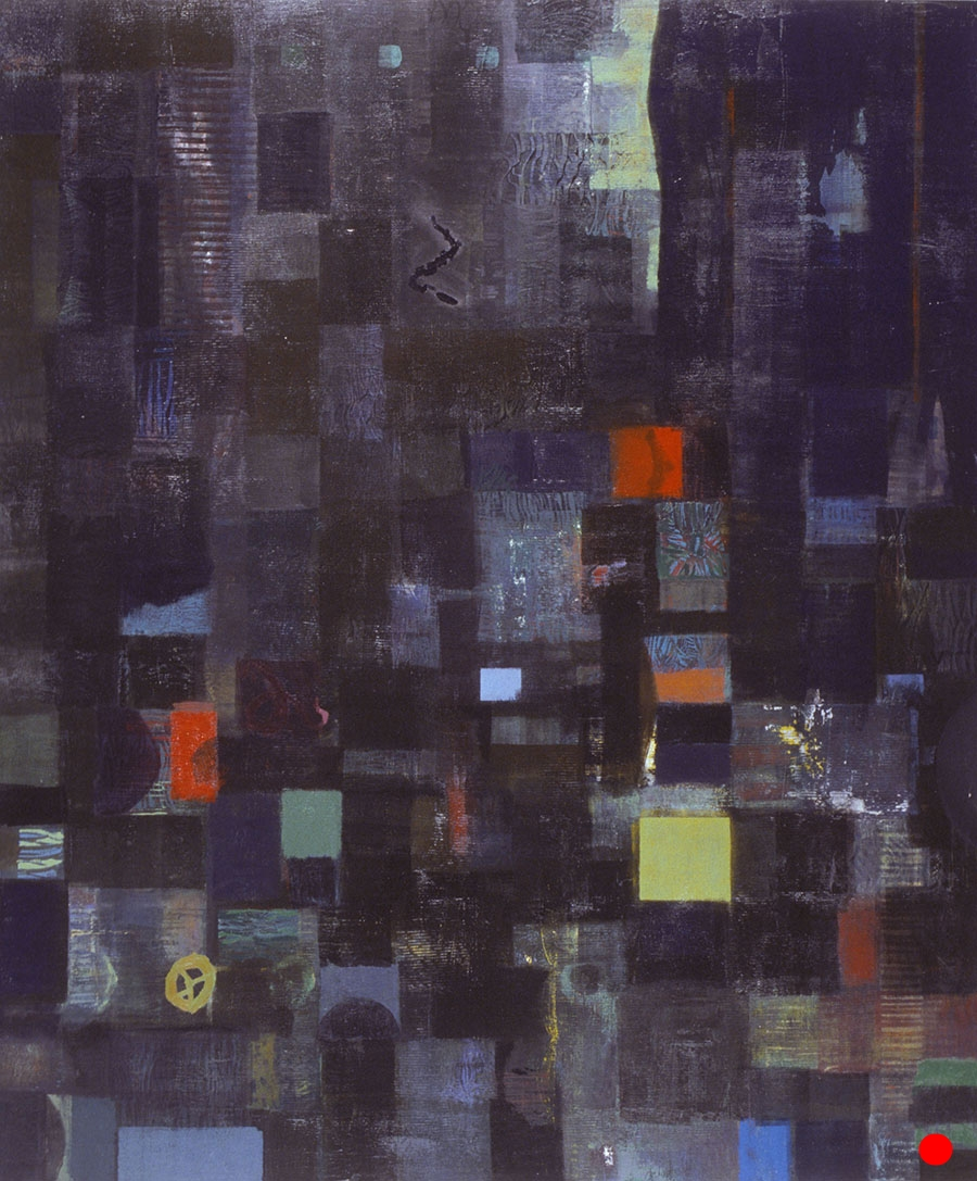 "Black Dimension ,  48""x 40"", oil on wood, 1999  SOLD"