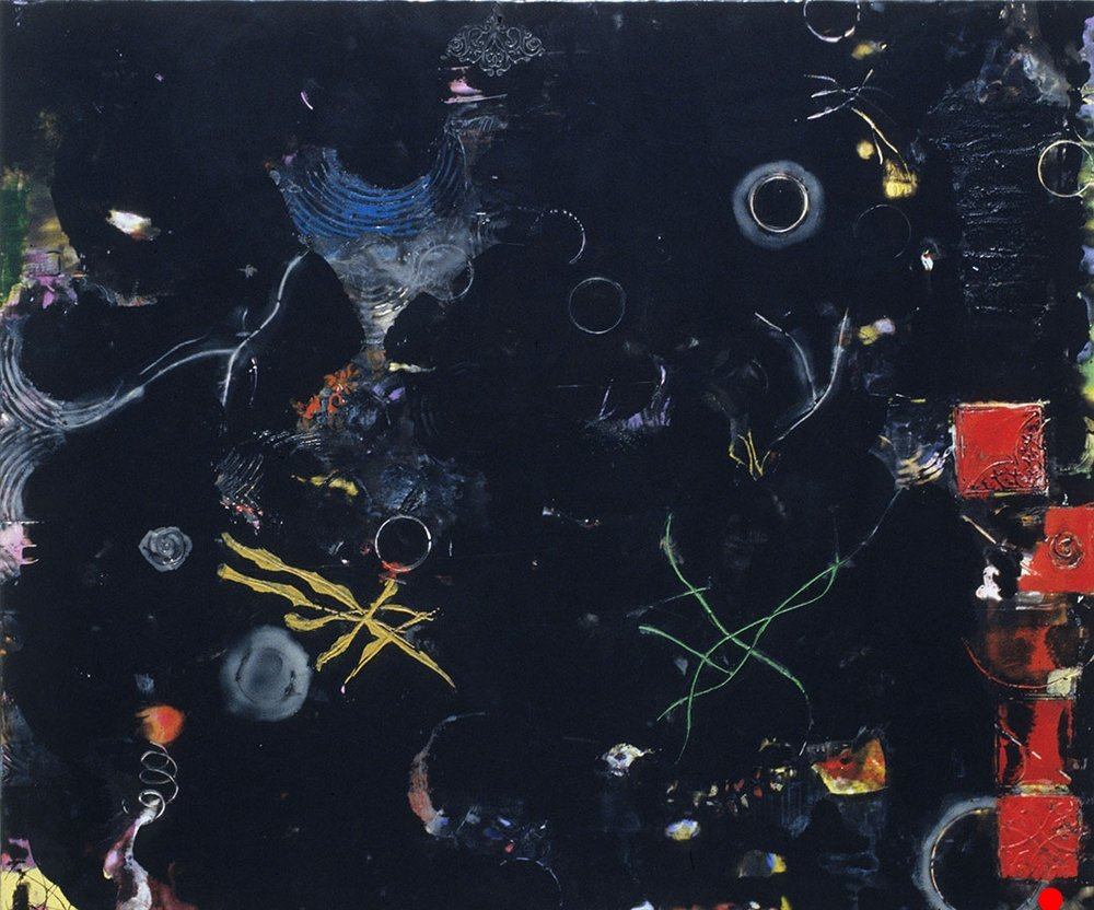 "Sea Space,   25"" x 30"", encaustic, oil on wood, 2005  SOLD"