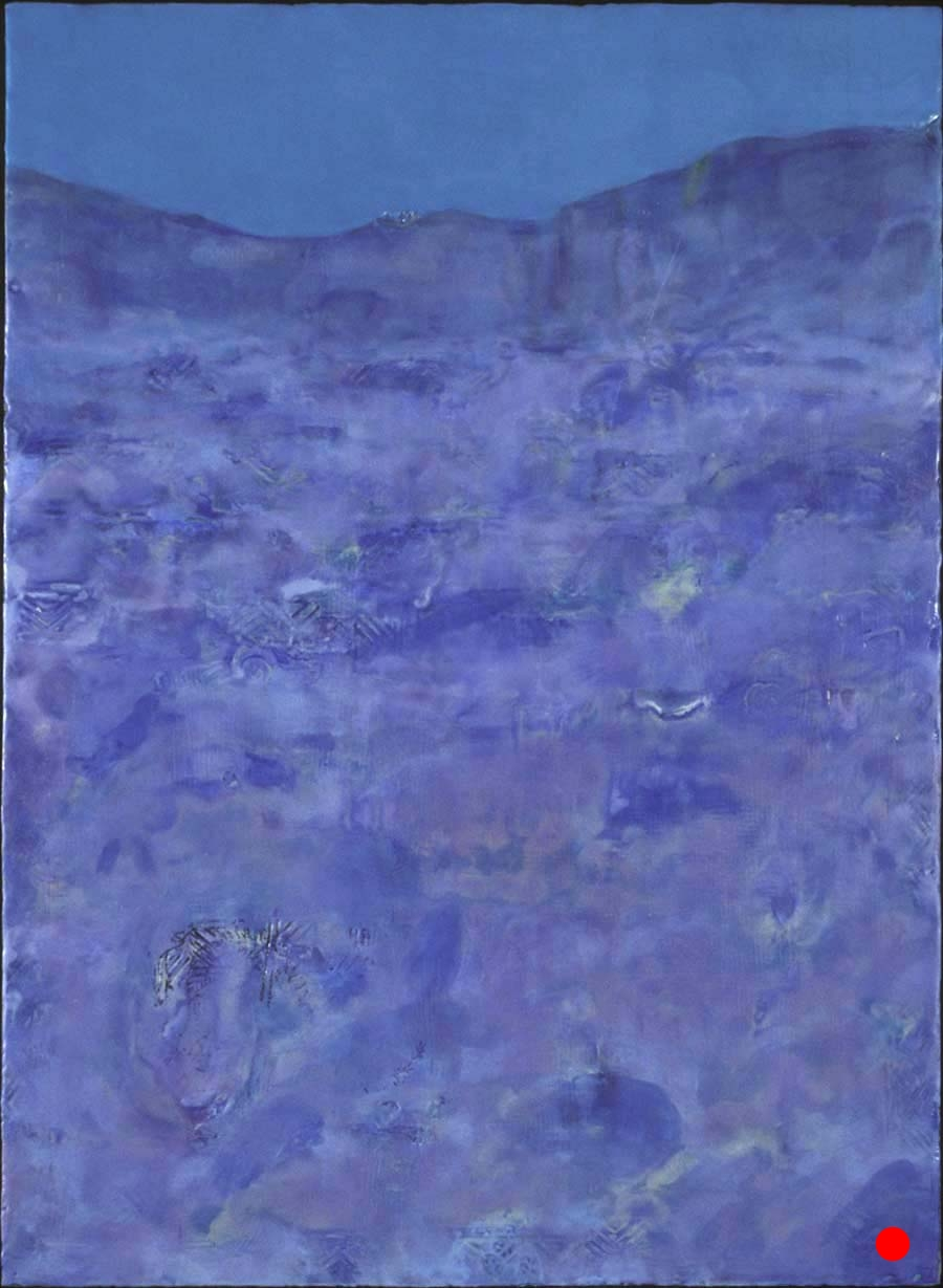 "Midnight at Sea,   30""x 25"", encaustic, oil on wood, 2005     SOLD"
