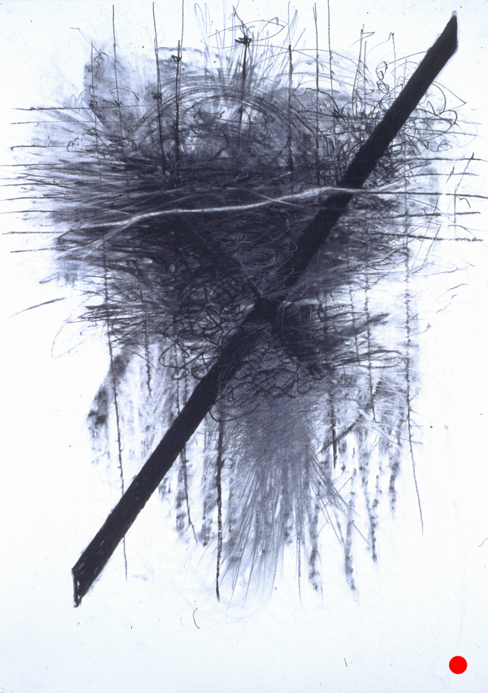 "Crash No Exit,  40.5""x 29.5"", charcoal, graphite on paper, 2005  SOLD"