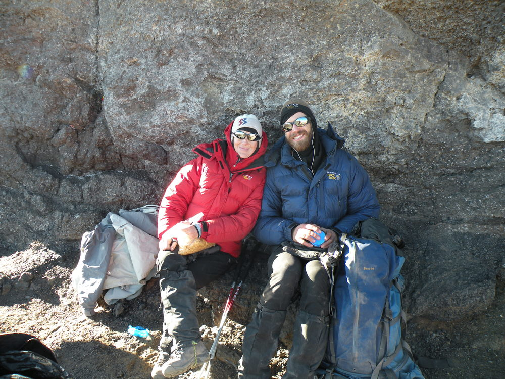Brad and Melissa near the summit of Kilimanjaro - 2009