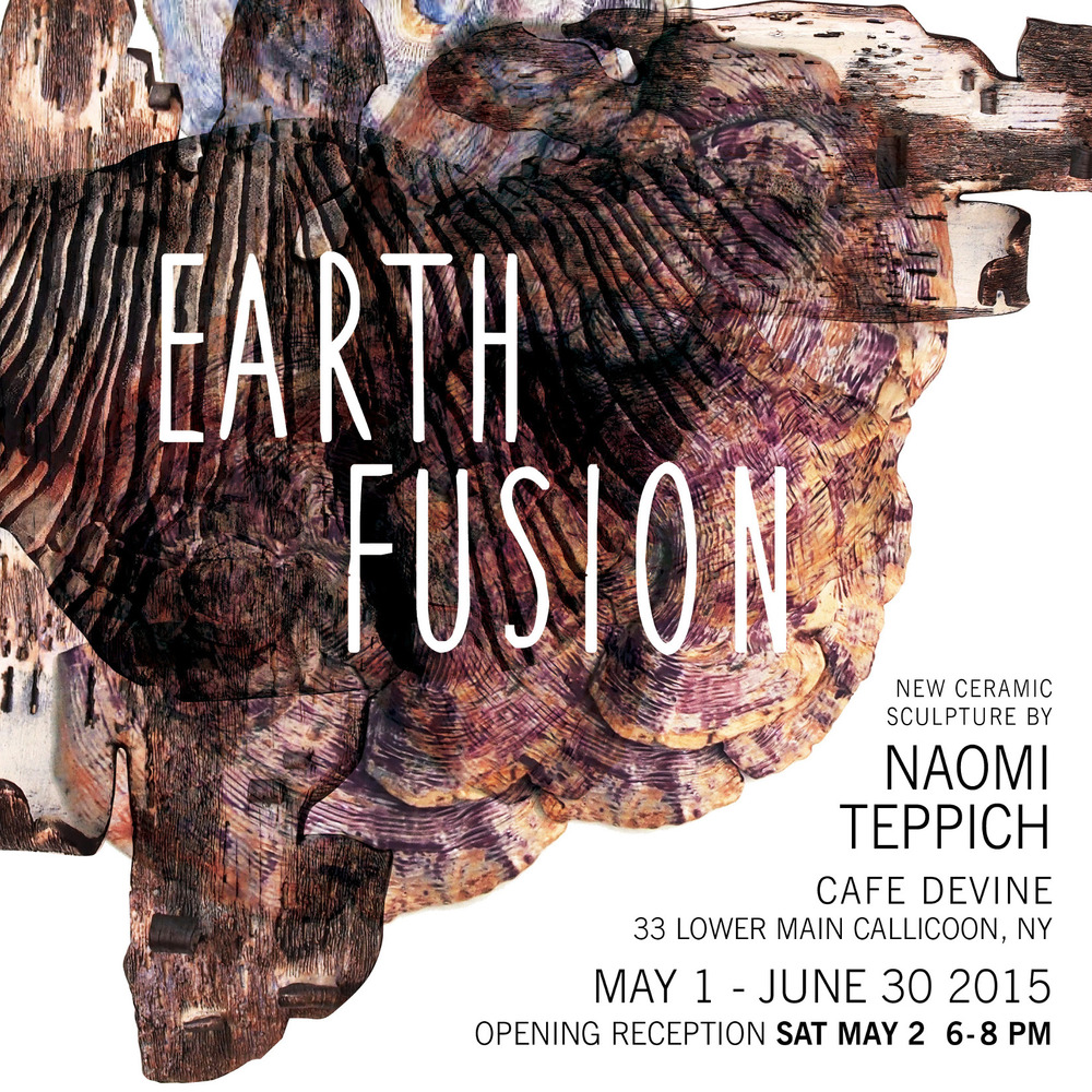 Earth Fusion solo exhibition at the Cafe Devine, Callicoon, NY