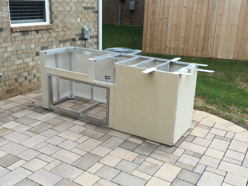 custom outdoor grill island with aog grill