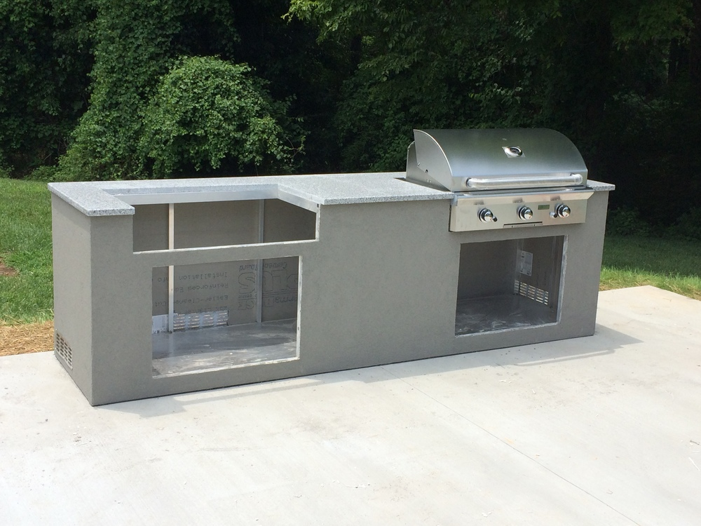 custom double AOG grill outdoor island