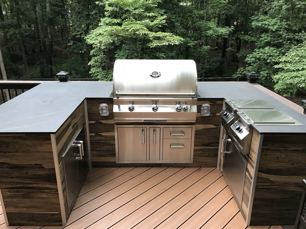 Outdoor kitchens charlotte grill company for Grill outdoor kuche