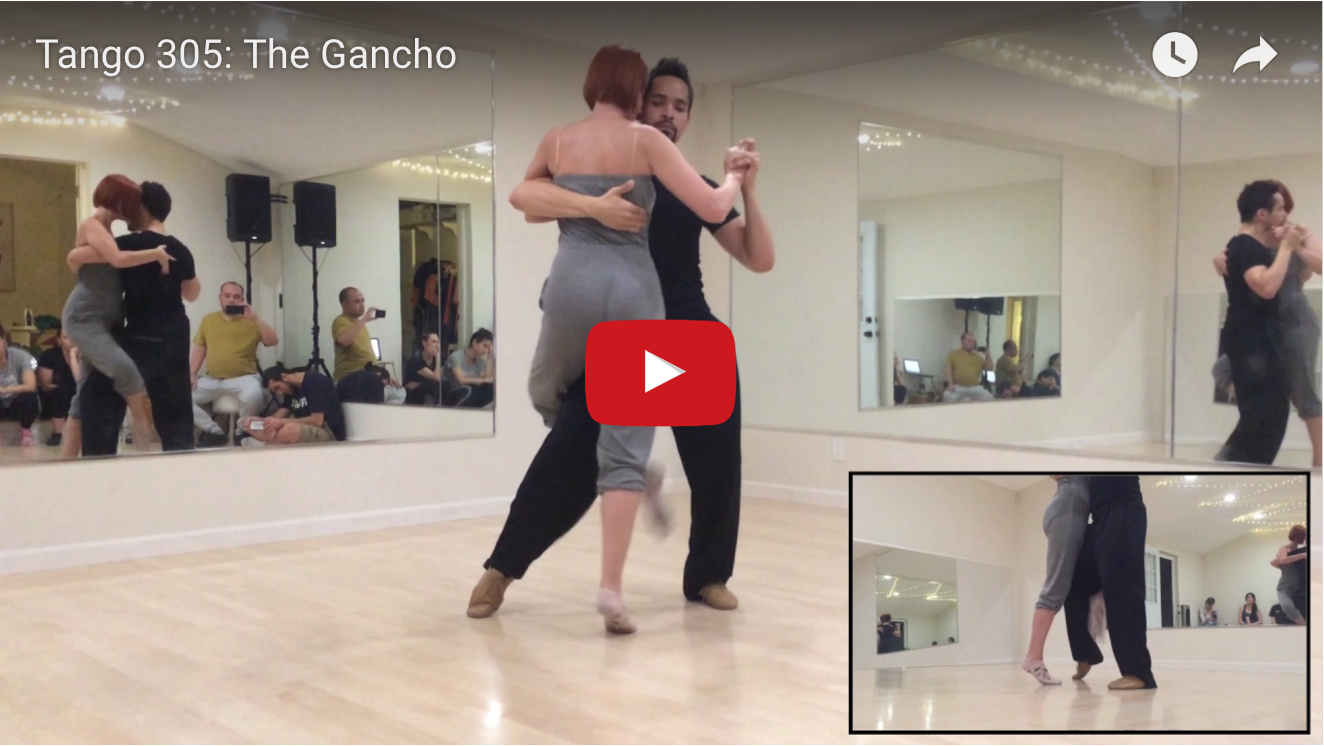 Los Angeles Tango Academy Dance Classes Steps Diagram 305 El Gancho