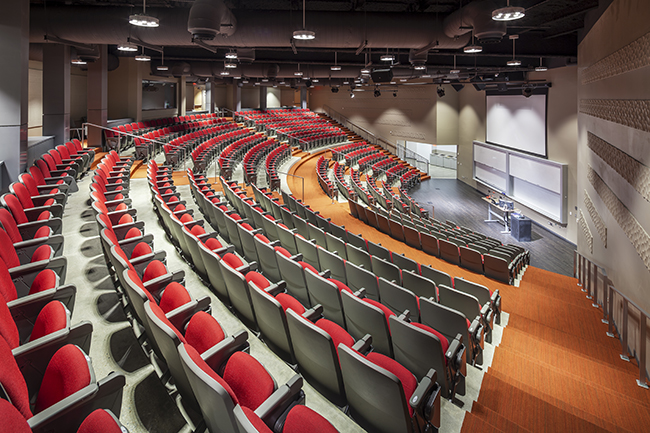 Large 425-seat auditorium