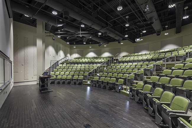 Small 290-seat auditorium