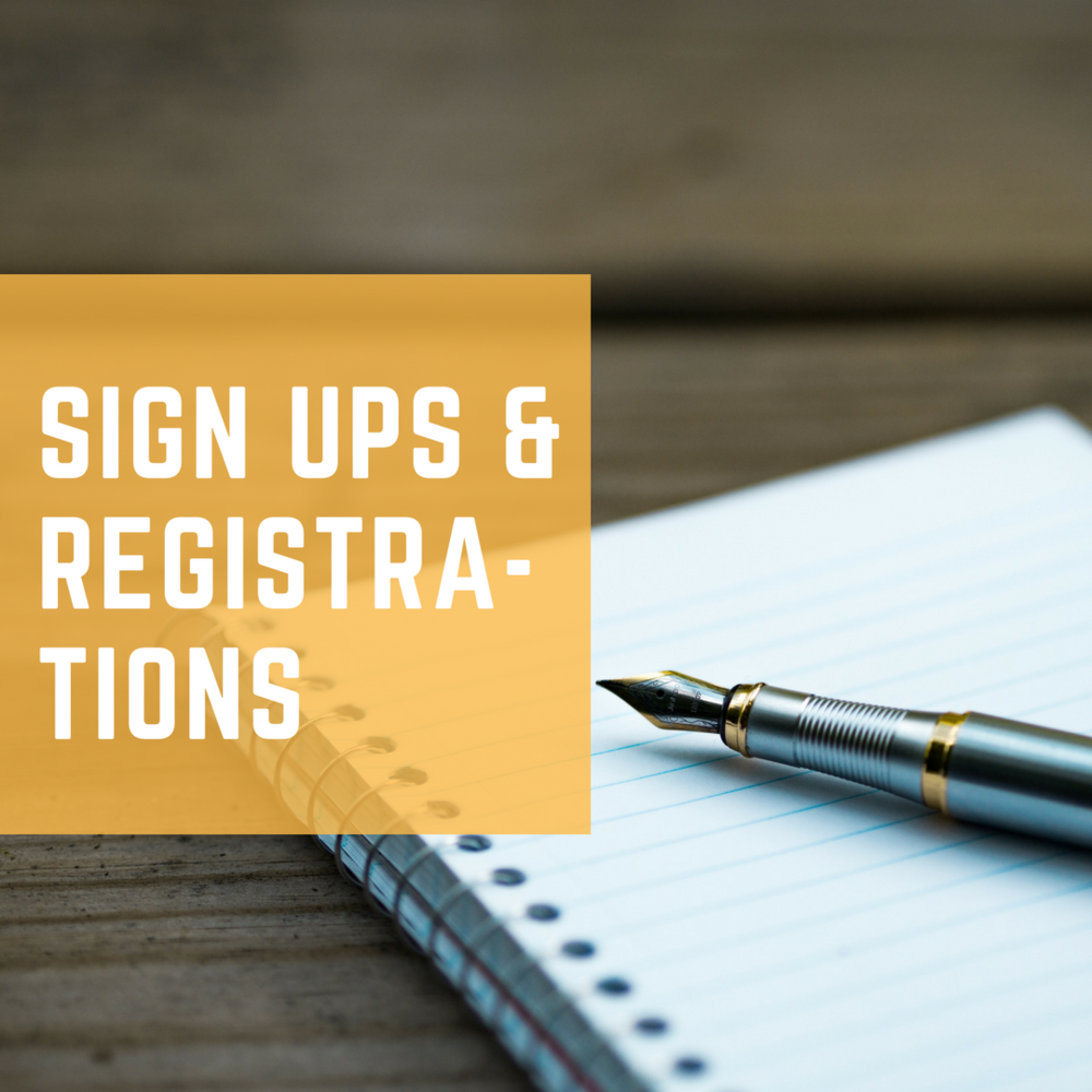 Event signups, volunteer opportunities, and registrations