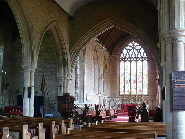 Interior of Parish Church of St. Peter and St. Paul (Olney, England), where John Newton ministered as pastor from 1764-1780. Newton wrote the hymn  Amazing Grace while at Olney.