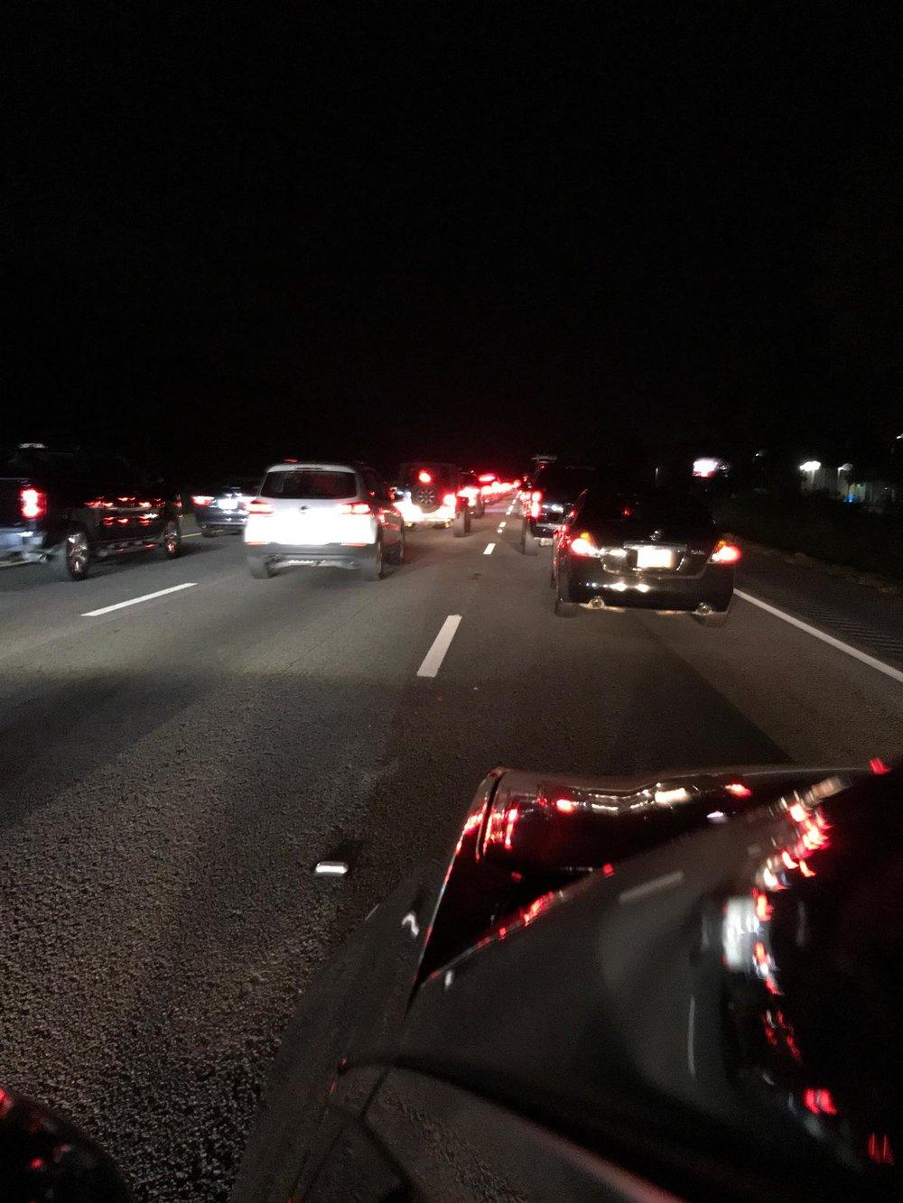 Hurricane Florence Evacuation Traffic I-26 10 miles outside of Charleston, SC