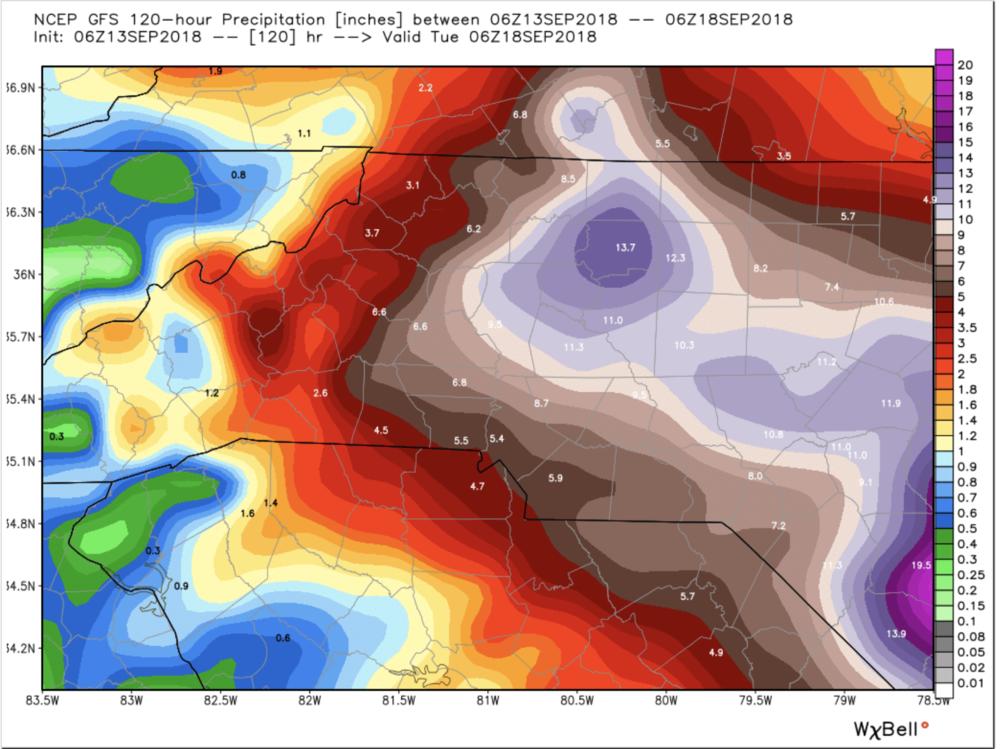 0z GFS Model Precipitation Totals