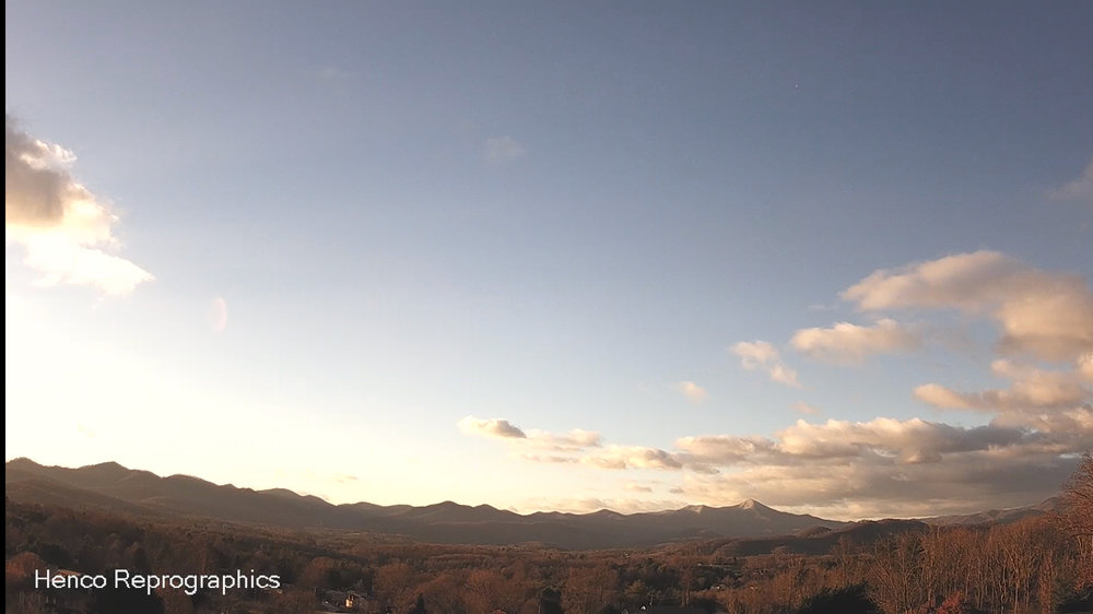 Henco Reprographics Candler/Mt. Pisgah Live Camera - Overlooking the Enka/Candler Valley, from this camera you can see all the way to Mt. Pisgah. When storms approach form the South, this will be a key camera to watch as weather works it way in!