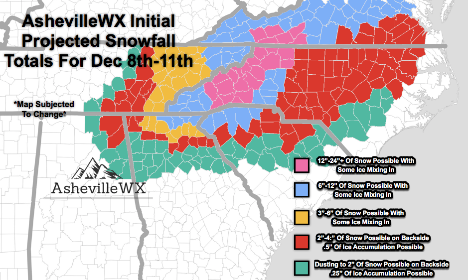 AshevilleWXProjectedSnowfallTotalsForDec8th-11thh2018.png