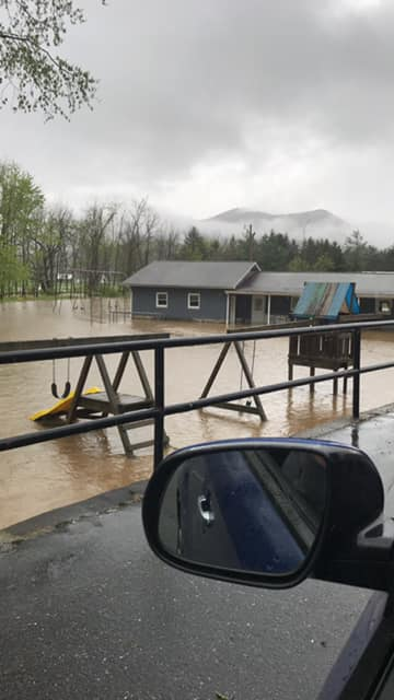Canton, NC Flooding sent in by Steve & Darla Brown